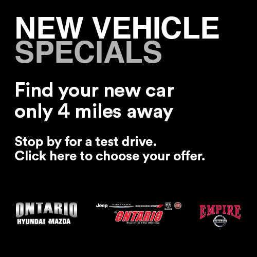 Find New Vehicle Specials at Ontario Mills