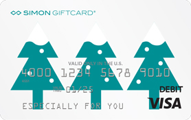Visa® Simon Giftcard®: Happy Holidays Festive Trees
