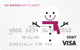 Visa® Simon Giftcard®: Happy Holidays Snowman