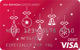 Visa® Simon Giftcard®: Holiday Ornament