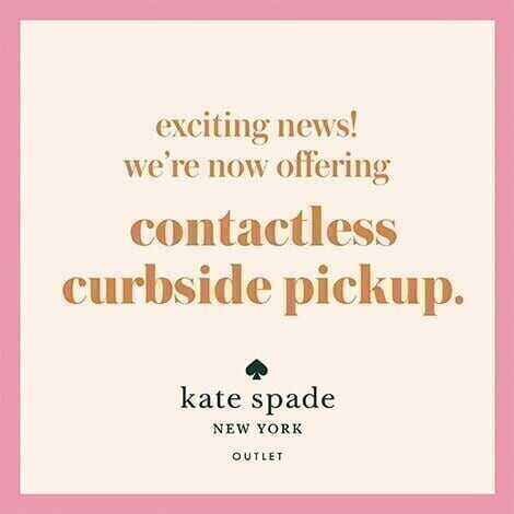 kate spade outlets - promo spot - curbside pickup image