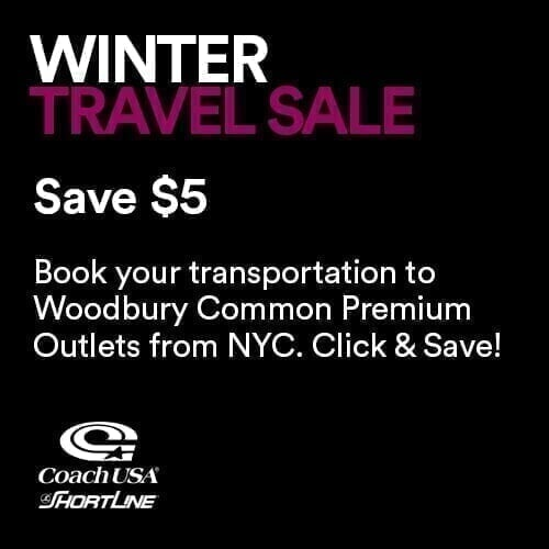 Winter Travel Sale Save $5
